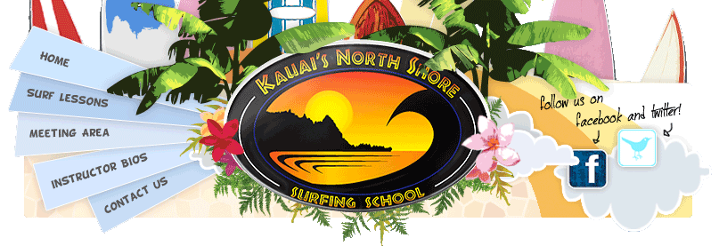 Kauai Surf Lessons header menu